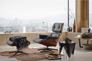 Vitra Lounge Chair zwart leer-1620x1079
