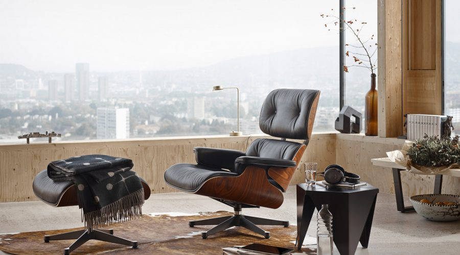 Vitra Lounge Chair zwart leer-1620x1079
