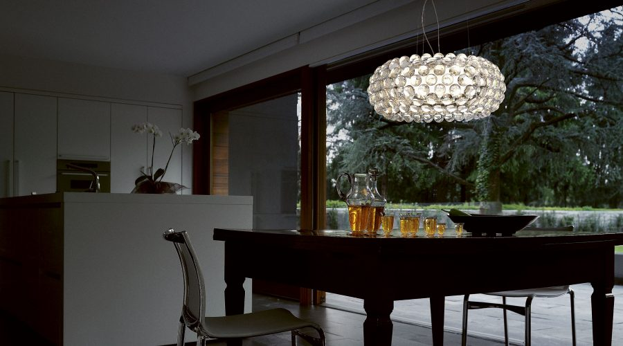 Foscarini caboche_grande_suspension_room_set