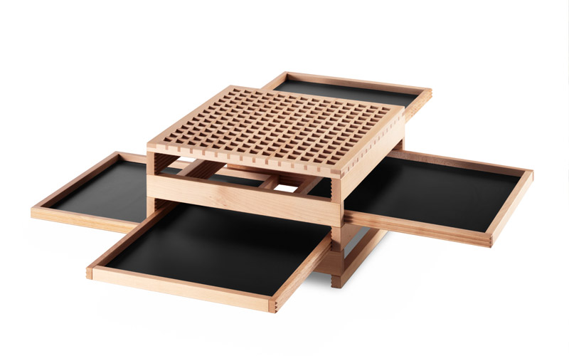 Product-Galerij-Sculptures Jeux Tetra-zwart