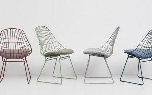 pastoe-wire-chair-sm051 set eetstoelen
