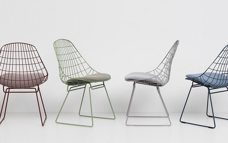 pastoe-wire-chair-sm051 set eetstoelen