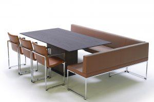 Impressie-Galerij-Arco Frame Bench-bruin-leer